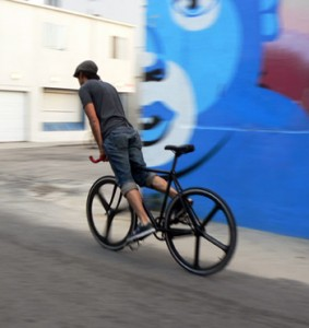 fixed bike riding